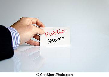 secteur, texte, concept, public