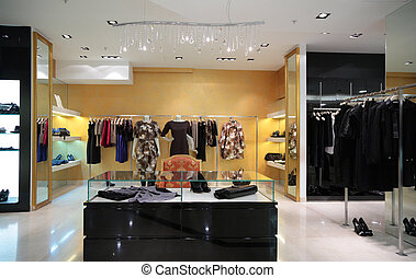section, magasin habillement, femme