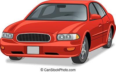 sedan, voiture, moderne