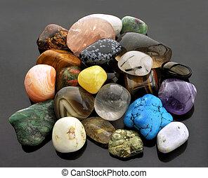 semi-precious, collection, gemstones