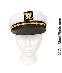 sentier, coupure, yacht, isolé, chapeau, capitaine