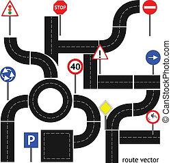 sentier, panneaux signalisations