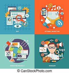 seo, commercialisation, internet, plat