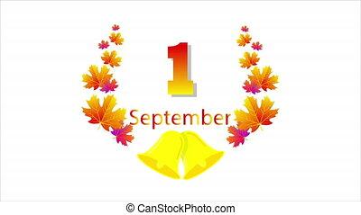 septembre, feuilles, automne, cloche, 1er, école