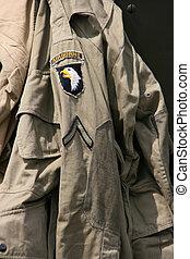 sergent, aéroporté, uniforme