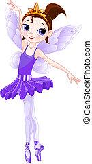 series)., violet, (rainbow, ballerines, couleurs, ballerine