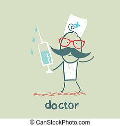 seringue, docteur