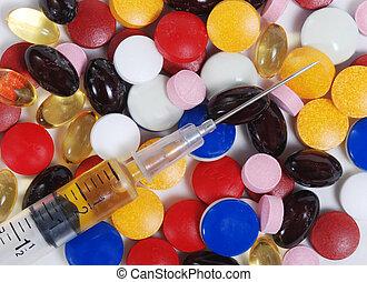 seringue, médicament