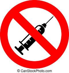 seringue, non, signe