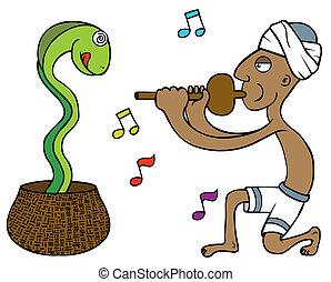 serpent, apprivoiseur