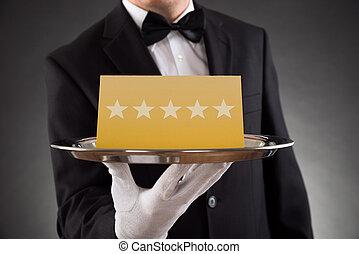 serveur, classement, servir, étoile