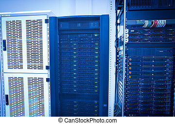 serveur, données, étagère, groupe, centre