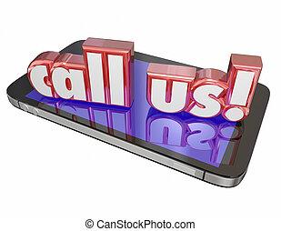 service clientèle, appeler, soutien, nous, cellule, contact, technologie, foule, maintenant, ordre