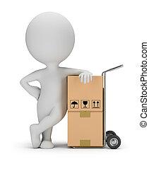 service, gens, -, livraison, petit, 3d