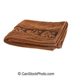 serviette, brun