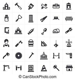 set., charpentier, icônes