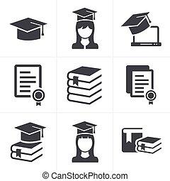 set., education, icônes