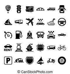 set., transport, icône
