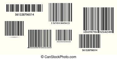 set., vecteur, business, barcodes