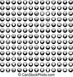 set170, 170, icônes, ensemble