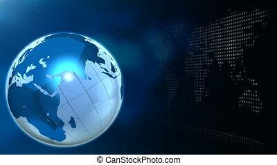 seulement, bleu rotation, globe, une