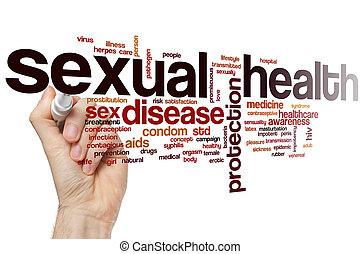 sexuel, mot, santé, nuage