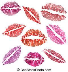 sexy, baiser rouge lèvres