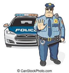 shérif, patrouille, police