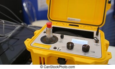 shaker, industriel, explosion, portable, calibrage, -, équipement, exposition, technologie, preuve