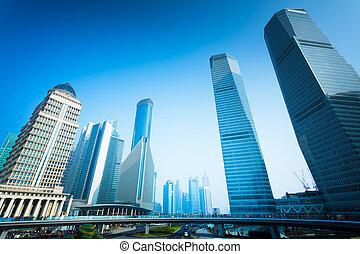 shanghai, bâtiment bureau