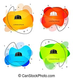 shapes., concept., résumé, liquide, vecteur, sécurité, arrière-plan., protéger, ouvrier, blanc, protection, bannière, casque, sécurité, assurance, noir, isolé, sécurité, icône