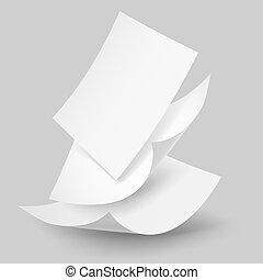 sheets., papier baisse