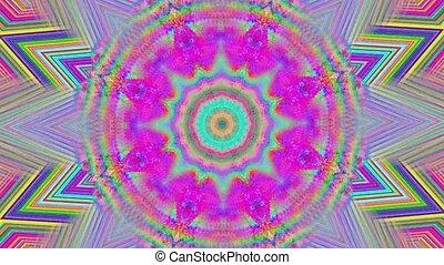 shimmering, coloré, cristal, arrière-plan., clair, réflexions, kaléidoscope