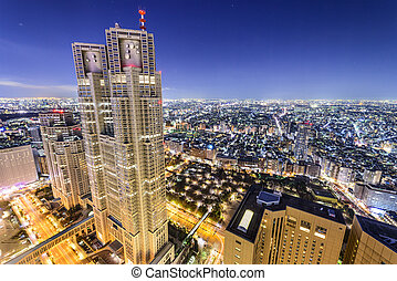 shinjuku, bâtiments, tokyo, bureau, japon