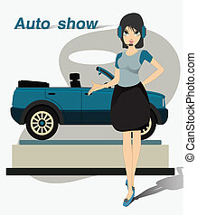show., joli, moteur