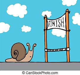 sien, but, escargot, atteindre