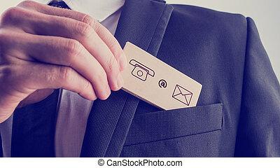 sien, icônes, enlever, poche, contact, ja, carte, homme