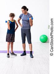 sien, père, fils, jeune, exercices