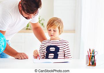 sien, père, fils, portion, maison, devoirs