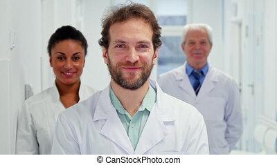 sien, pouce, docteur, haut, mâle, spectacles