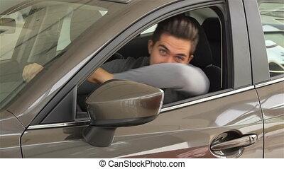 sien, voiture, projection, clã©, nouvel homme
