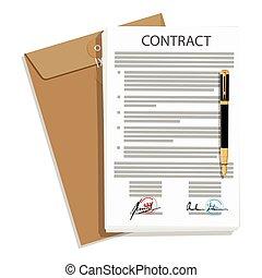 signé, affaires contractent