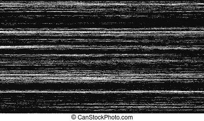 signal, voile de surface, noir, interférence, analogue, blanc, glitchy, tv, mauvais, statique, fond, prêt, vendange, métrage, vhs, bruit