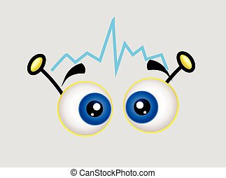 signal, yeux, dessin animé