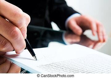 signant document, business