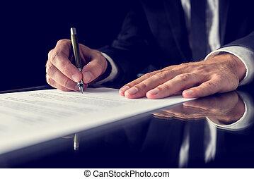 signant document, légal