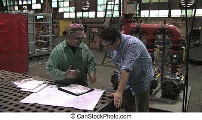 signant document, usine