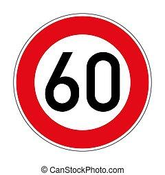 signe, 274, limite, route, vitesse, allemand