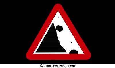 signe, avertissement, falaise