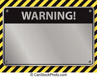 signe, avertissement, illustration, vecteur